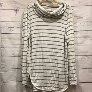 {Lou & Grey} Long-sleeve striped cozy tunic top